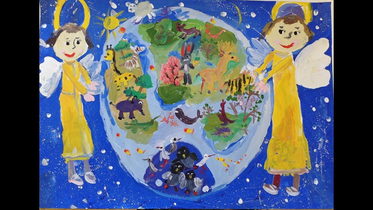 Детские рисунки на конкурсе