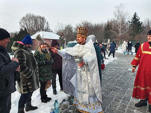 Крещение в Свято-Георгиевском храме г.Запорожья 2021г.